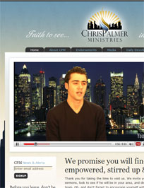 Web Design and Development for Chris Palmer Ministries